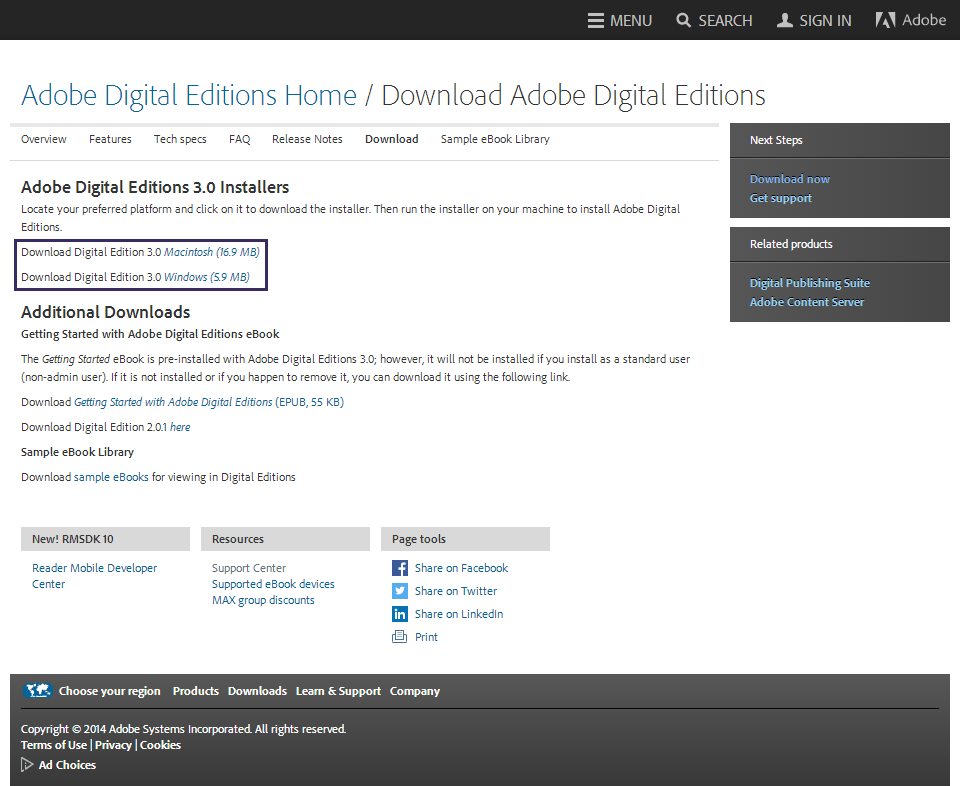 adobe digital editions 3.0 download